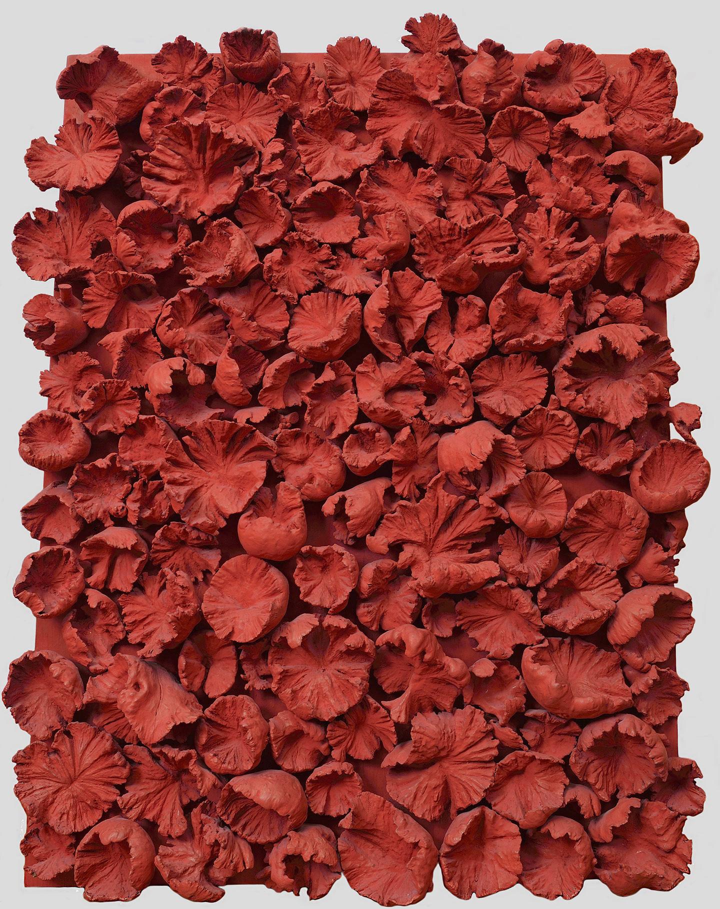 Composition Rouge - Frans Krajcberg, 1965 - Végétaux et pigmen